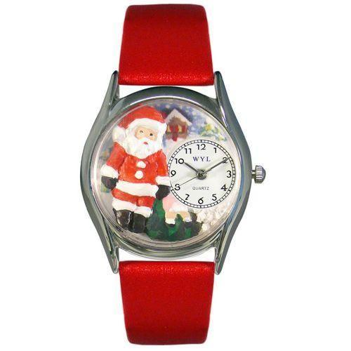 Christmas Santa Claus Watch Small Silver Style-Watch-Whimsical Gifts-Top Notch Gift Shop