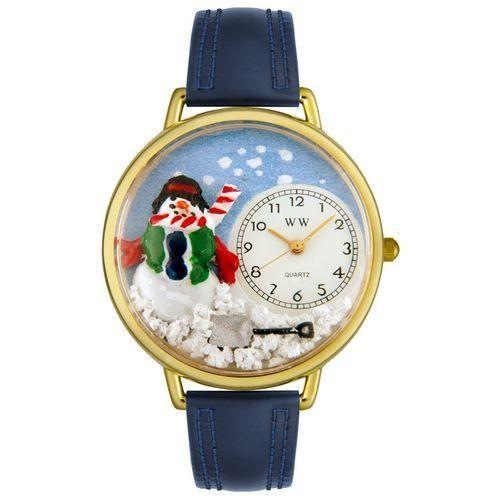 Christmas Snowman Watch in Gold (Large)-Watch-Whimsical Gifts-Top Notch Gift Shop