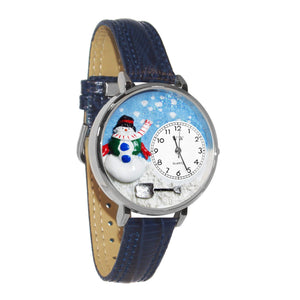 Christmas Snowman Watch in Silver (Large)-Watch-Whimsical Gifts-Top Notch Gift Shop