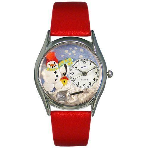 Christmas Snowman Watch Small Silver Style-Watch-Whimsical Gifts-Top Notch Gift Shop