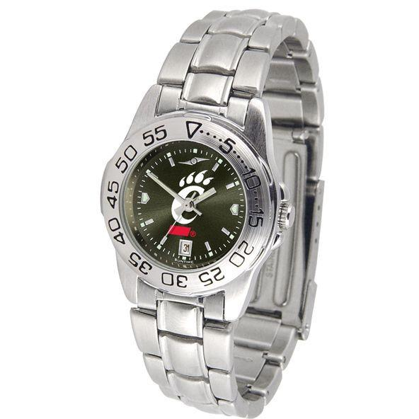 Cincinnati Bearcats Ladies AnoChrome Steel Band Sports Watch-Suntime-Top Notch Gift Shop