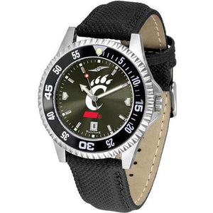 Cincinnati Bearcats Mens Competitor Ano Poly/Leather Band Watch w/ Colored Bezel-Suntime-Top Notch Gift Shop