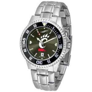 Cincinnati Bearcats Mens Competitor AnoChrome Steel Band Watch w/ Colored Bezel-Suntime-Top Notch Gift Shop