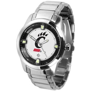 Cincinnati Bearcats Men's Titan Stainless Steel Band Watch-Watch-Suntime-Top Notch Gift Shop