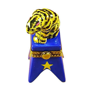 Circus Tiger On Blue Base Limoges Box by Rochard™-Limoges Box-Rochard-Top Notch Gift Shop