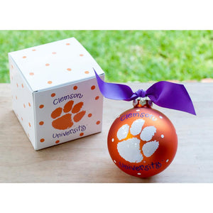 Clemson Tigers Christmas Ornament-Ornament-Coton Colors-Top Notch Gift Shop