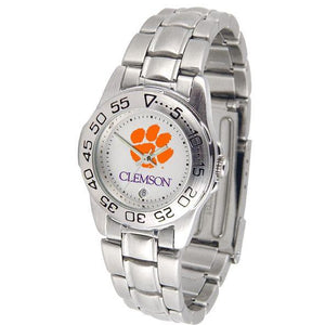 Clemson Tigers Ladies Steel Band Sports Watch-Watch-Suntime-Top Notch Gift Shop