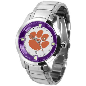 Clemson Tigers Men's Titan Stainless Steel Band Watch-Watch-Suntime-Top Notch Gift Shop