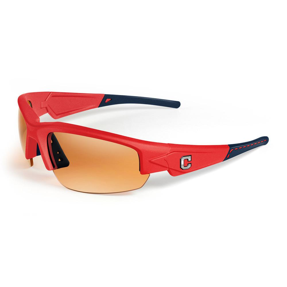 "Cleveland Indians Dynasty ""Stitch"" Sunglasses, Red with Blue Tips-Sunglasses-Maxx-Top Notch Gift Shop"