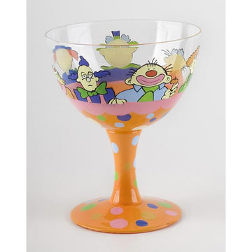 Clown Hand Painted Ice Cream Sundae Bowl