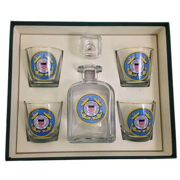 Coast Guard  Logo 5 Piece Decanter Set