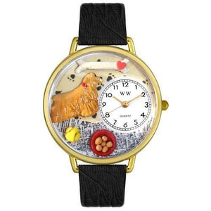 Cocker Spaniel Watch in Gold (Large)-Watch-Whimsical Gifts-Top Notch Gift Shop