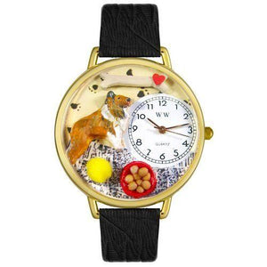 Collie Watch in Gold (Large)-Watch-Whimsical Gifts-Top Notch Gift Shop