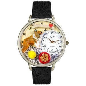 Collie Watch in Silver (Large)-Whimsical GiftsTop Notch Gift Shop