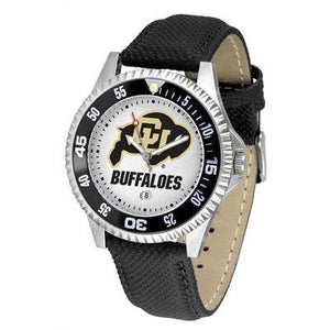 Colorado Buffaloes Competitor - Poly/Leather Band Watch-Watch-Suntime-Top Notch Gift Shop