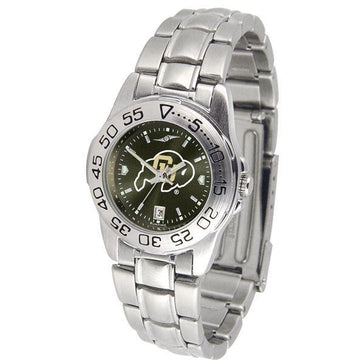 Colorado Buffaloes Ladies AnoChrome  Steel Band Sports Watch