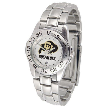 Colorado Buffaloes Ladies Steel Band Sports Watch
