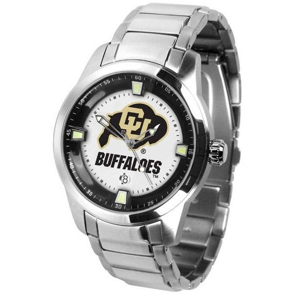 Colorado Buffaloes Titan Stainless Steel Band Watch-Suntime-Top Notch Gift Shop