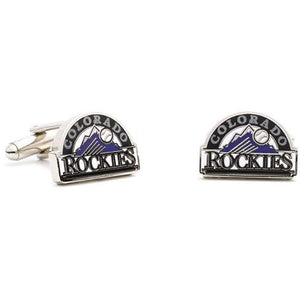 Colorado Rockies Enamel Cufflinks-Cufflinks-Cufflinks, Inc.-Top Notch Gift Shop