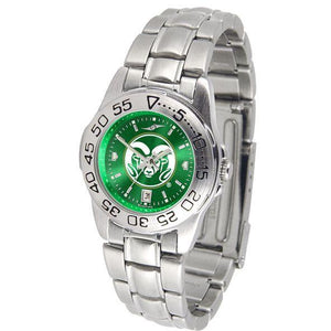 Colorado State Rams Ladies AnoChrome Steel Band Sports Watch-Watch-Suntime-Top Notch Gift Shop