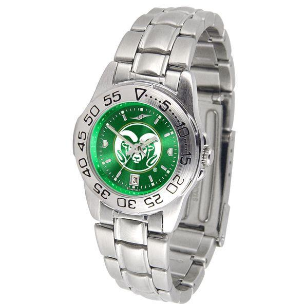 Colorado State Rams Ladies AnoChrome Steel Band Sports Watch-Suntime-Top Notch Gift Shop