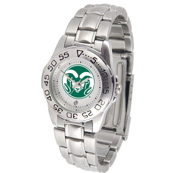 Colorado State Rams Ladies Steel Band Sports Watch-Suntime-Top Notch Gift Shop