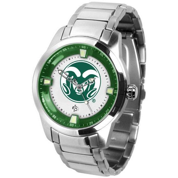 Colorado State Rams Titan Stainless Steel Band Watch-Suntime-Top Notch Gift Shop
