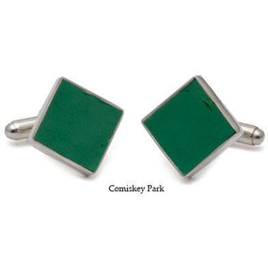 Comiskey Park Authentic Stadium Seat Cufflinks-Cufflinks-Tokens & Icons-Top Notch Gift Shop