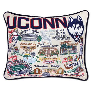 UConn Embroidered Catstudio Pillow