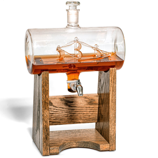 Constellation 1797 Ship in a Bottle Decanter - Personalizable-Decanter-Prestige-Top Notch Gift Shop