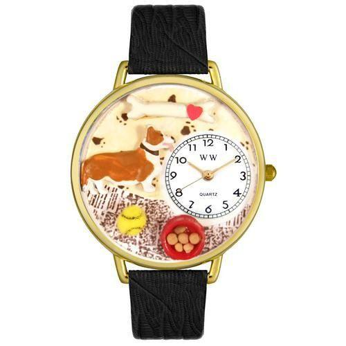 Corgi Watch in Gold (Large)-Watch-Whimsical Gifts-Top Notch Gift Shop