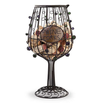 Wine Glass Cork Cage® Wine Bottle Cork Holder
