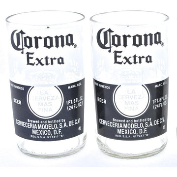 Corona Bottle Tumblers -  Set of 2