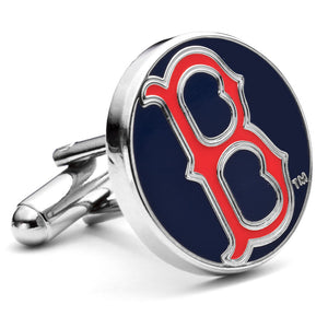 Classic Boston Red Sox Enamel Cufflinks-Cufflinks-Cufflinks, Inc.-Top Notch Gift Shop