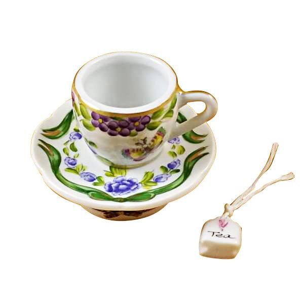 Cup & Saucer-Butterfly Limoges Box by Rochard™-Rochard-Top Notch Gift Shop