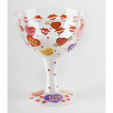 Cupid's Hand Painted Ice Cream Sundae Bowl