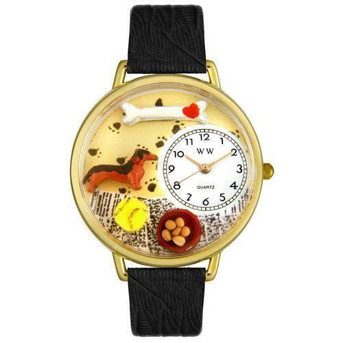 Dachshund Watch in Gold (Large)-Watch-Whimsical Gifts-Top Notch Gift Shop