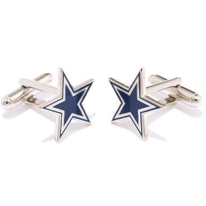 Dallas Cowboys Enamel Star Cufflinks-Cufflinks-Cufflinks, Inc.-Top Notch Gift Shop