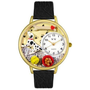 Dalmatian Watch in Gold (Large)-Watch-Whimsical Gifts-Top Notch Gift Shop