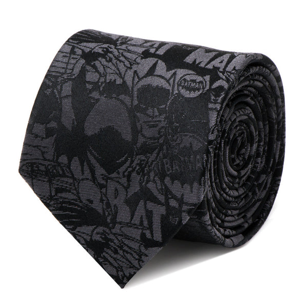 Batman Comic Black Tie-Necktie-Cufflinks, Inc.-Top Notch Gift Shop