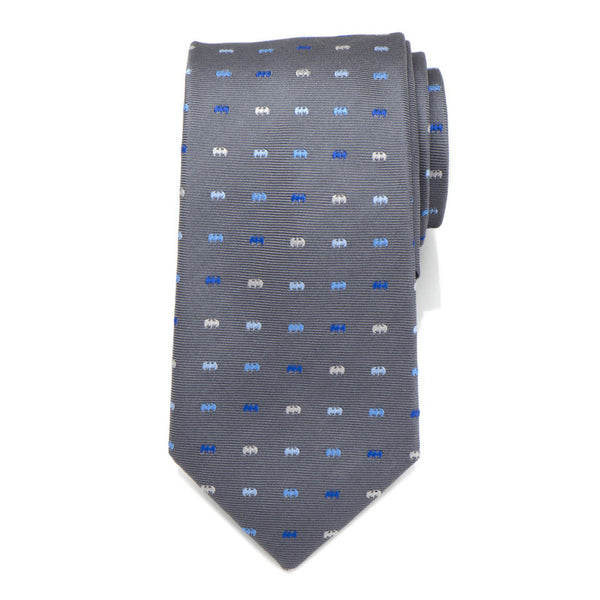 Batman Icon Gray Mens Tie-Necktie-Cufflinks, Inc.-Top Notch Gift Shop