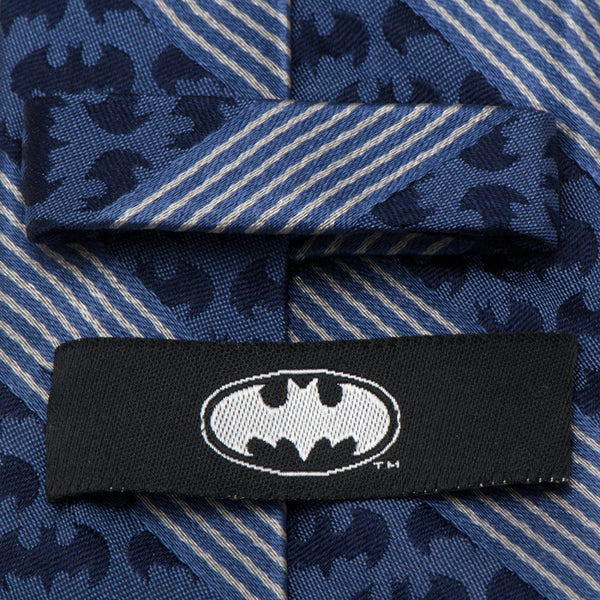 Batman Pinstripe Navy Tie-Necktie-Cufflinks, Inc.-Top Notch Gift Shop