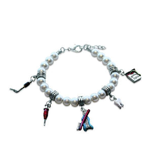 Dental Assistant Charm Bracelet in Silver-Bracelet-Whimsical Gifts-Top Notch Gift Shop