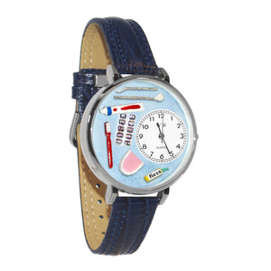 Dentist Watch in Silver (Large)-Watch-Whimsical Gifts-Top Notch Gift Shop