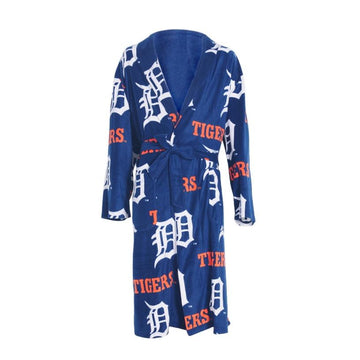Detroit Tigers Mens Microfleece Robe in Royal