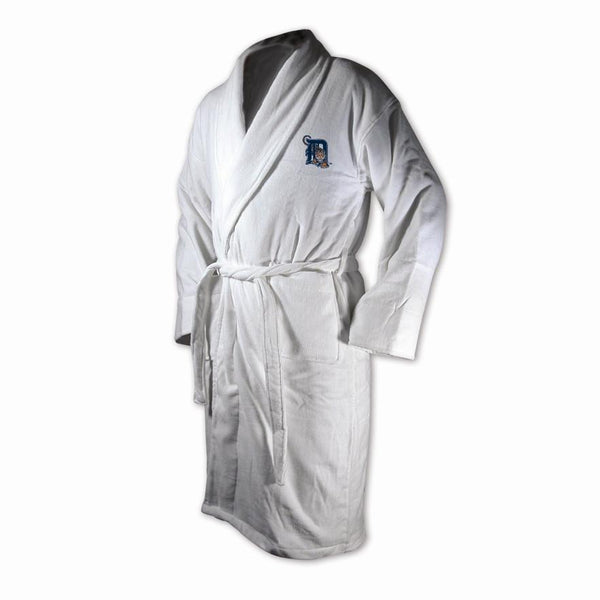 Detroit Tigers White Terrycloth Bathrobe-Bathrobe-Wincraft-Top Notch Gift Shop