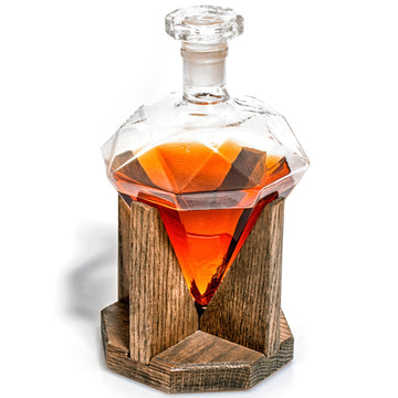 Cullinan Diamond Shaped Whiskey Decanter - Personalizable