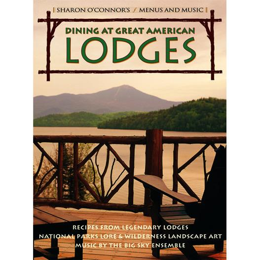 Dining at Great American Lodges - American Cookbook with Music-Menus and Music-Top Notch Gift Shop
