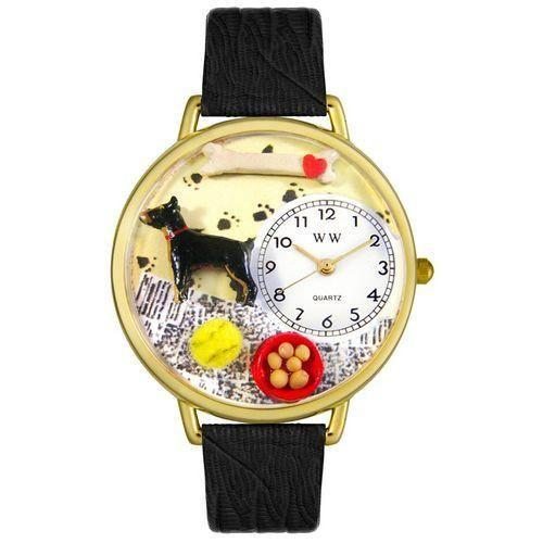 Doberman Pinscher Watch in Gold (Large)-Watch-Whimsical Gifts-Top Notch Gift Shop