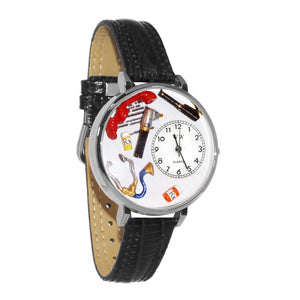 Doctor Watch in Silver (Large)-Watch-Whimsical Gifts-Top Notch Gift Shop